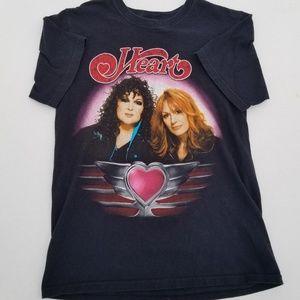 Tops - Heart 2011 Canada band concert tour t shirt
